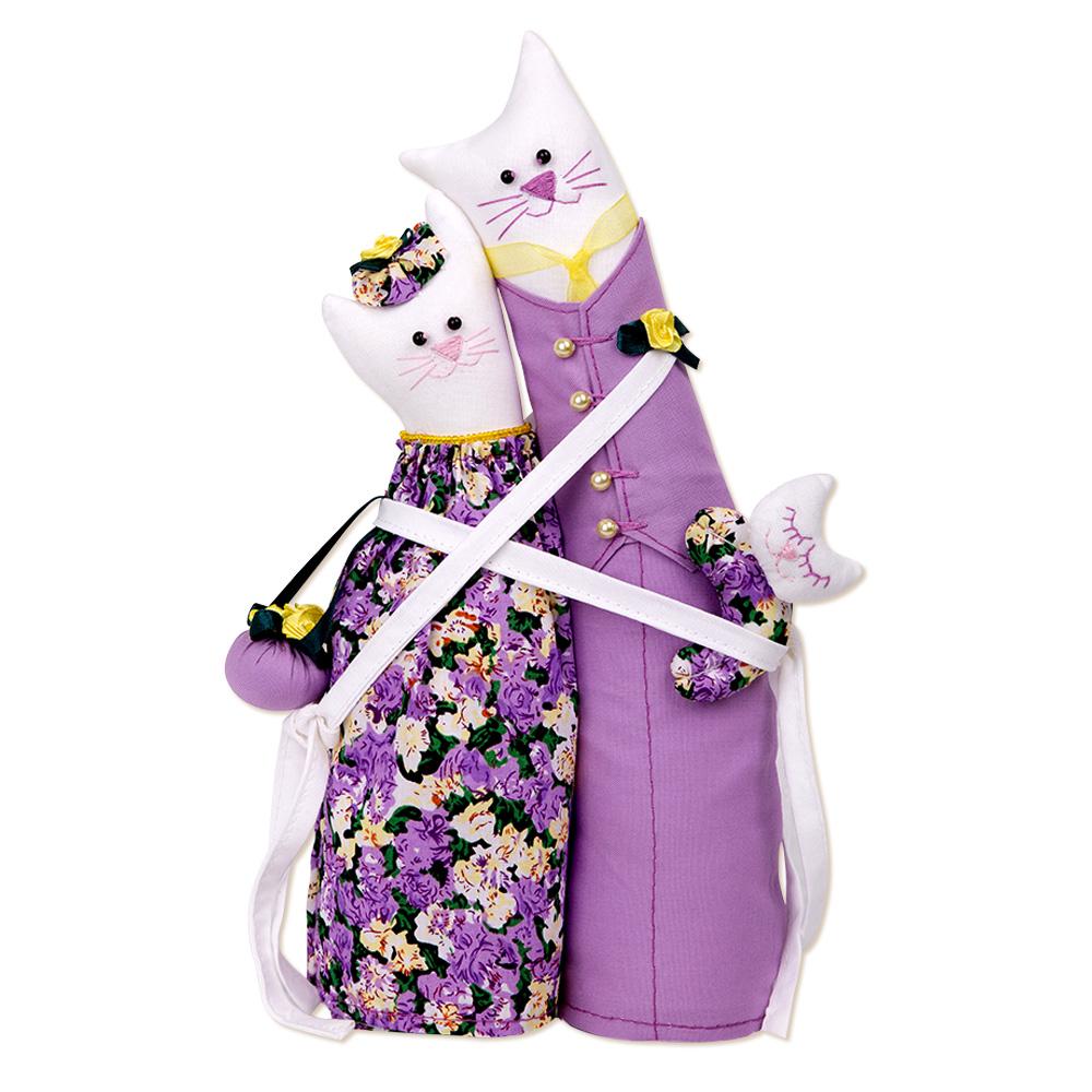 Кукла тильда коты обнимашки 114
